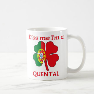 Personalized Portuguese Kiss Me I'm Quental Coffee Mugs