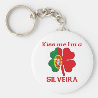 Personalized Portuguese Kiss Me I'm Silveira Key Chains