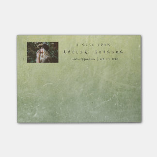 Personalized Post-it Note Corporate Mint Cement Post-it® Notes