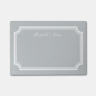 Personalized Post-it® notes with elegant border