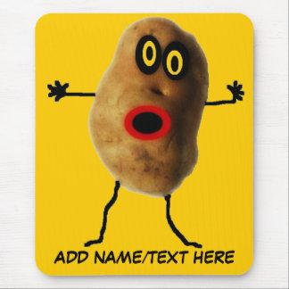 Personalized Potato Cartoon Mouse Mat