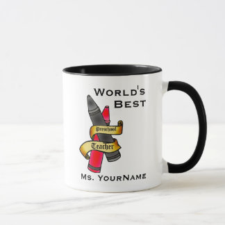 Personalized Preschool Teacher Mug
