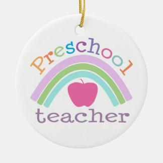 Personalized Preschool Teacher Rainbow Ornament