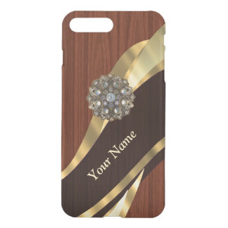 Personalized pretty faux cherry wood iPhone 8 plus/7 plus case
