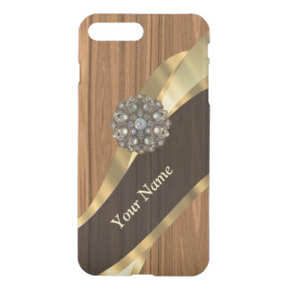 Personalized pretty faux pine wood iPhone 8 plus/7 plus case