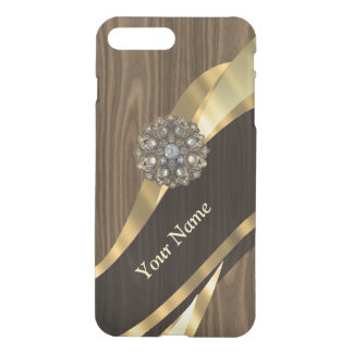 Personalized pretty faux wood iPhone 8 plus/7 plus case