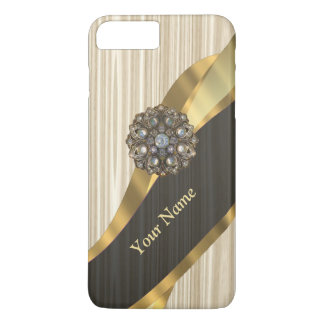 Personalized pretty faux wooden iPhone 8 plus/7 plus case