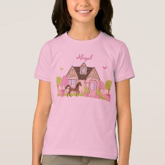 Personalized Pretty Garden Horse T-Shirt