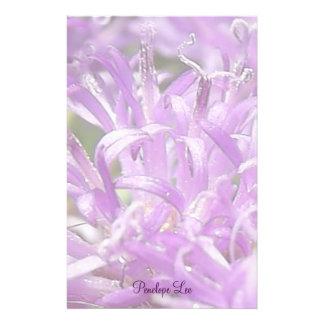 Personalized Pretty Lavender Wild Flowers Stationery