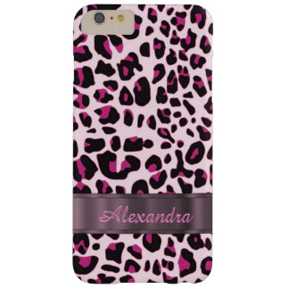 Personalized pretty leopard animal print barely there iPhone 6 plus case