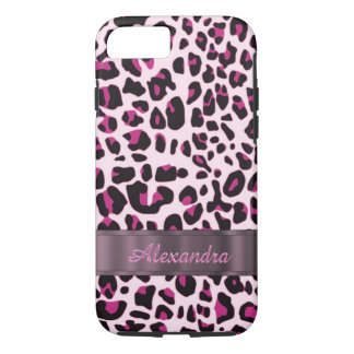 Personalized pretty leopard animal print iPhone 8/7 case