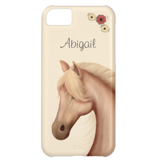 Personalized Pretty Palomino Horse iPhone Case iPhone 5C Case