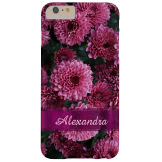 Personalized pretty pink Chrysanthemum  flower Barely There iPhone 6 Plus Case