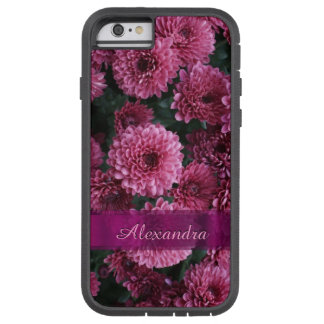 Personalized pretty pink Chrysanthemum  flower Tough Xtreme iPhone 6 Case