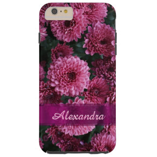 Personalized pretty pink Chrysanthemum  flower Tough iPhone 6 Plus Case