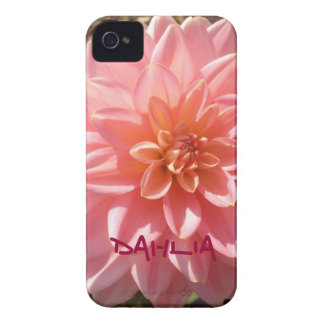Personalized Pretty Pink Dahlia iPhone 4 Cover