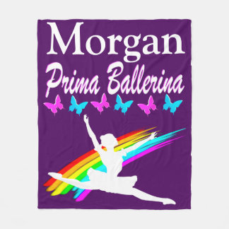 PERSONALIZED PRIMA BALLERINA FLEECE BLANKET