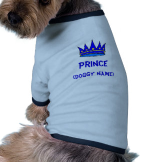 Personalized Prince dog shirt (blue crown)