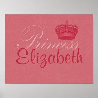 Personalized Princess Art Print