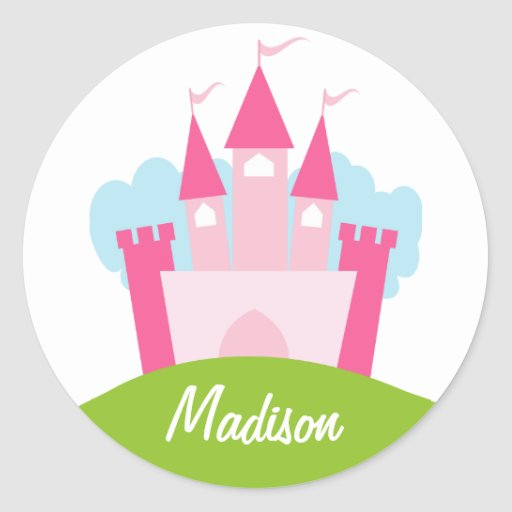 Personalized Princess Castle Stickers