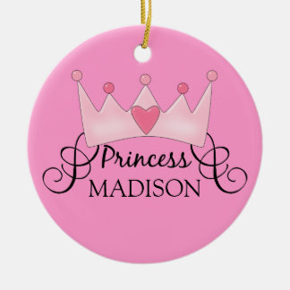 Personalized Princess Christmas Ornament