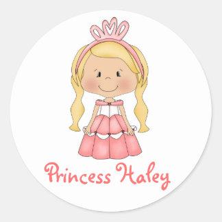 Personalized Princess lollipop labels stickers