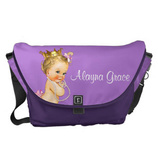 Personalized Princess Purple Baby Diaper Bag Courier Bag
