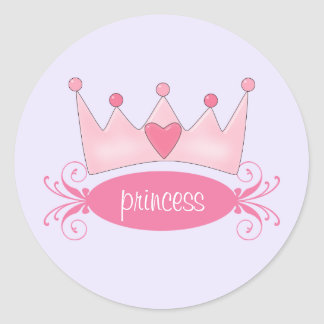 Personalized Princess Tiara Stickers