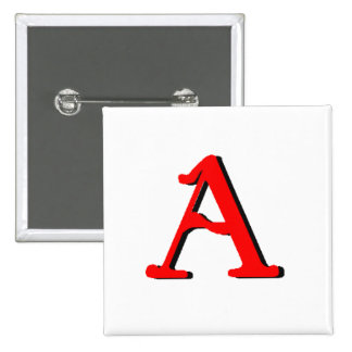 Personalized Products Initial A Pin