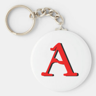 Personalized Products: Initial A Basic Round Button Key Ring