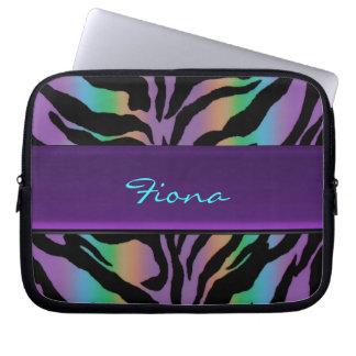 Personalized Psychedelic Rainbow Zebra Skin Sleeve