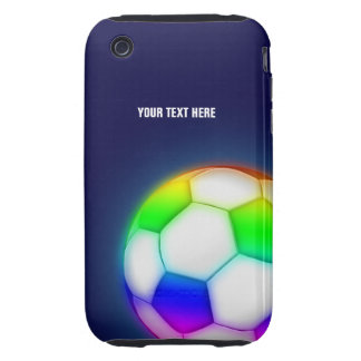 Personalized Psychedelic Soccer Ball (Football) Tough iPhone 3 Cover