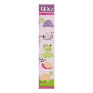 Personalized Puddle Turtle/Frog/Snail Growth Chart