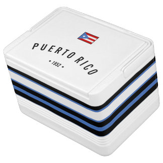 Personalized, Puerto Rico Flag Igloo Cooler