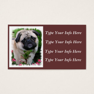Personalized Pug Profile Cards