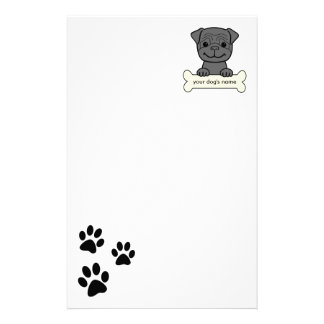 Personalized Pug Stationery