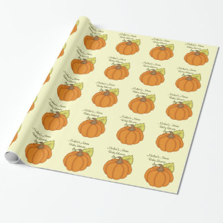 Personalized Pumpkin Baby Shower Gift Wrap