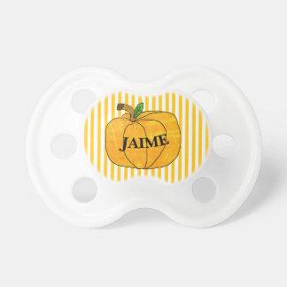 Personalized Pumpkin Halloween  Baby Pacifier