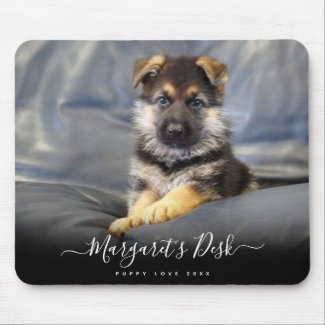 Personalized Puppy Photo Mouse Mat