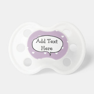 Personalized Purple and White Heart Baby Pacifier