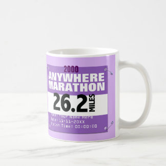 Personalized Purple Anywhere Marathon, 26.2 Miles Coffee Mug