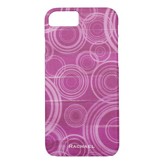Personalized Purple Circles iPhone 8/7 Case