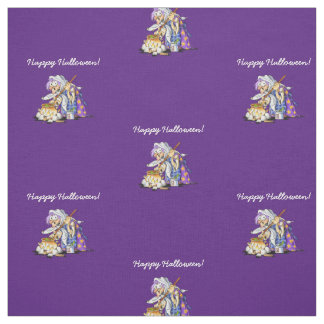 Personalized Purple Fabric Happy Halloween Witch