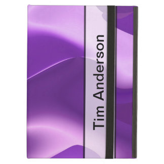 Personalized Purple Flame Abstract iPad Air Cover