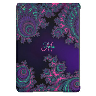 Personalized Purple Fractal iPad Air Case