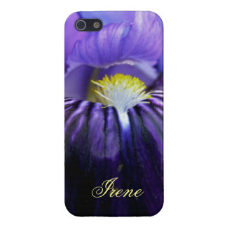 Personalized Purple Iris High Res Photo Close-Up iPhone 5/5S Cases