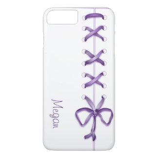 Personalized Purple Laces iPhone 7 Plus Case