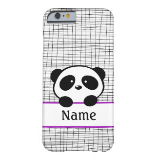 Personalized Purple Panda iPhone 6 case