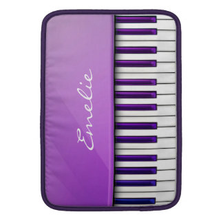 Personalized Purple Piano Music Sleeve For MacBook Air