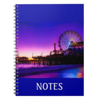 Personalized Purple Santa Monica Pier Notebook
